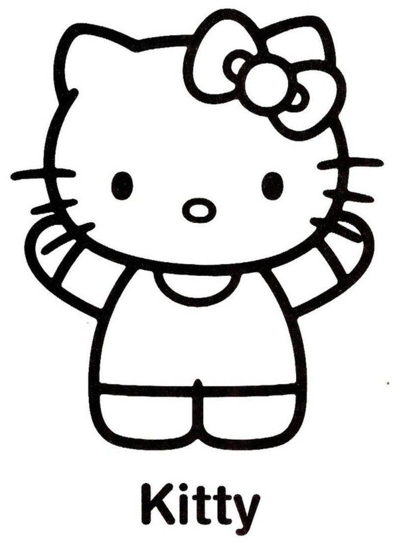 Coloriage hello kitty - Hello kitty jeux coloriage ...