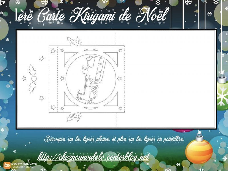 1ere Carte Kirigami De Noel