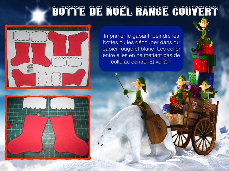 botte de noel range couvert. Black Bedroom Furniture Sets. Home Design Ideas