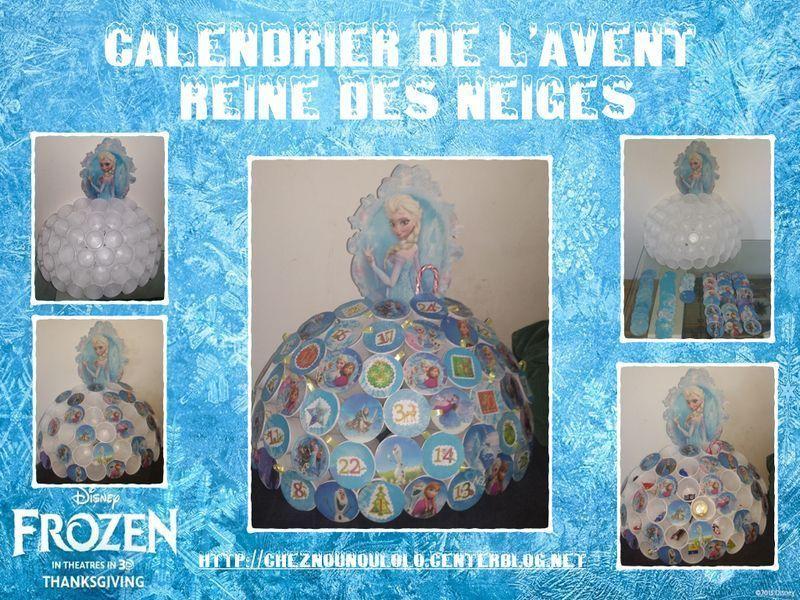 Calendrier de l 39 avent reine des neiges - Calendrier de l avent a fabriquer avec des enfants ...