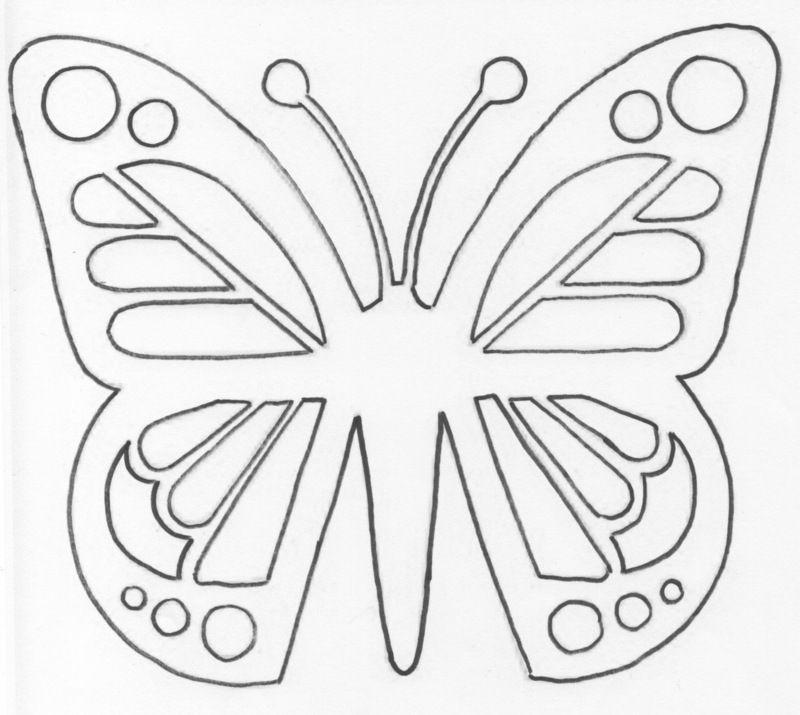 Papillon vitrail modele pour papier vitrail - Modele de papillon ...