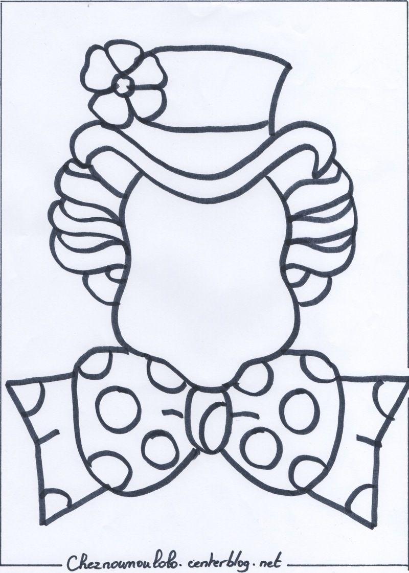 Coloriage visage clown maternelle - Tete de clown a imprimer ...