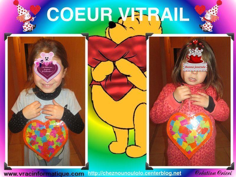 Coeur vitrail - Pinterest bricolage st valentin ...