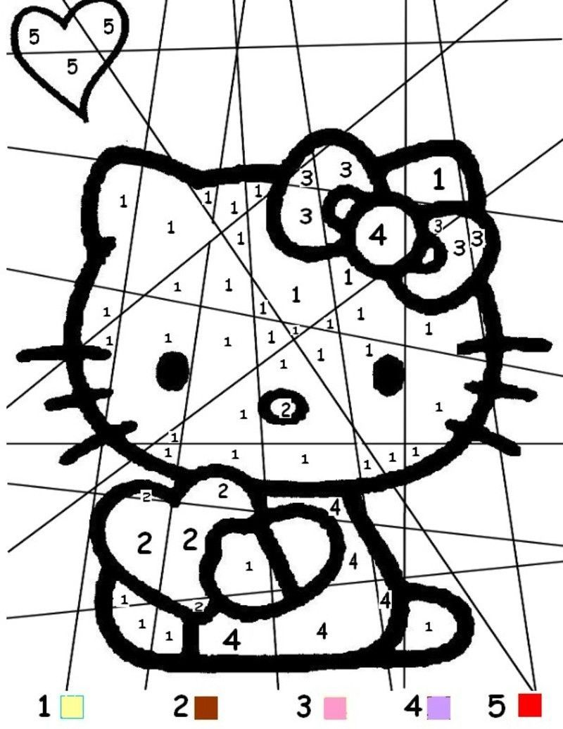 Coloiage magique - Coloriage hello kitty a colorier ...