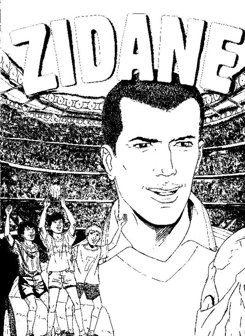 Zidane - Footballeur a colorier ...