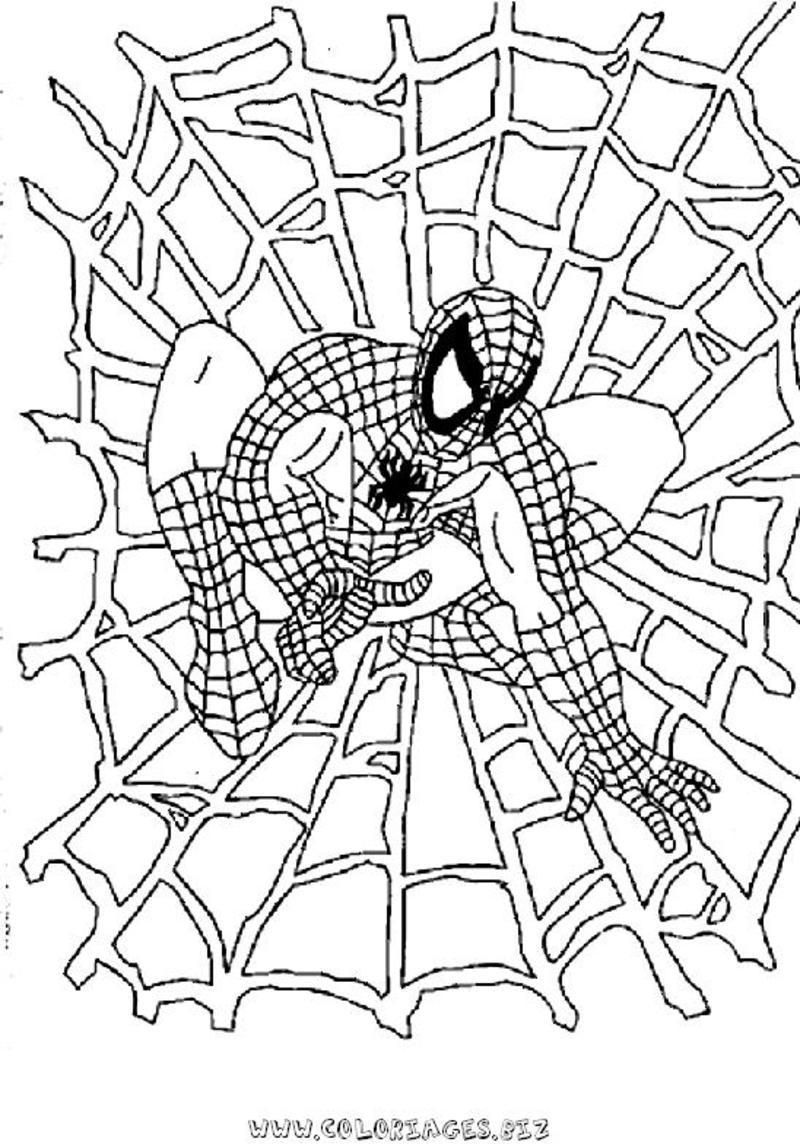 Coloriage spiderman - Coloriages spiderman ...