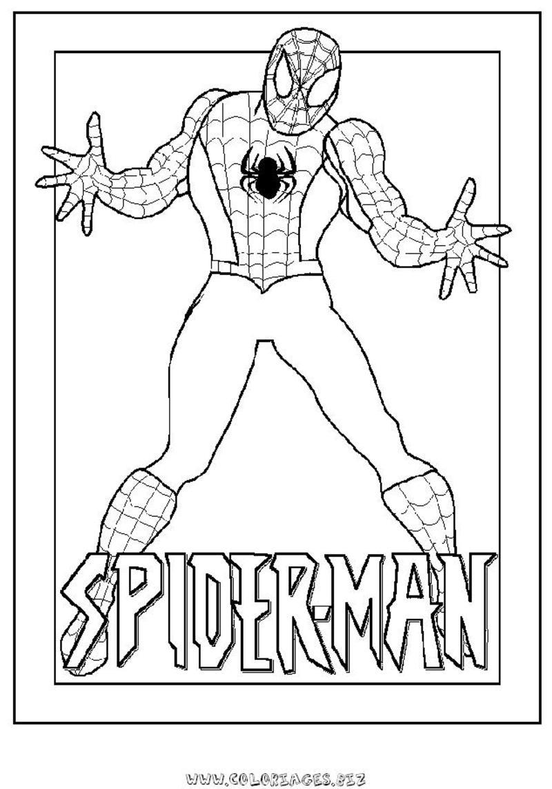 Coloriage spiderman - Jeux de spiderman coloriage ...