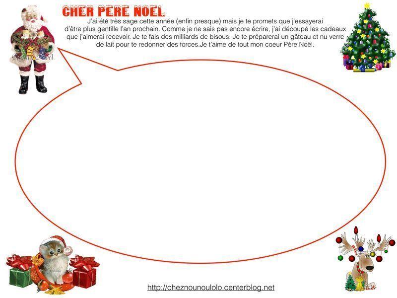 Modele De Lettre Pour Pere Noel.Lettre Au Pere Noel