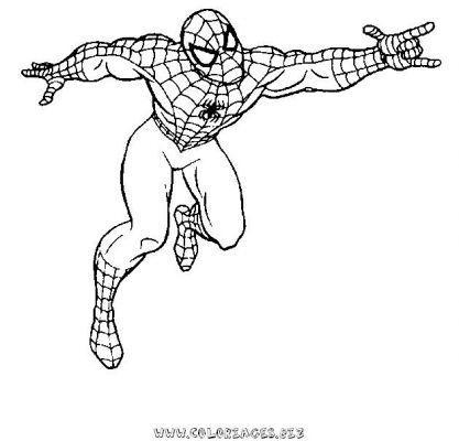 Coloriage spiderman - Coloriage de spider man ...