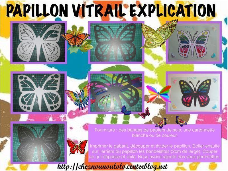 Papillon vitrail - Papillon en papier de soie ...