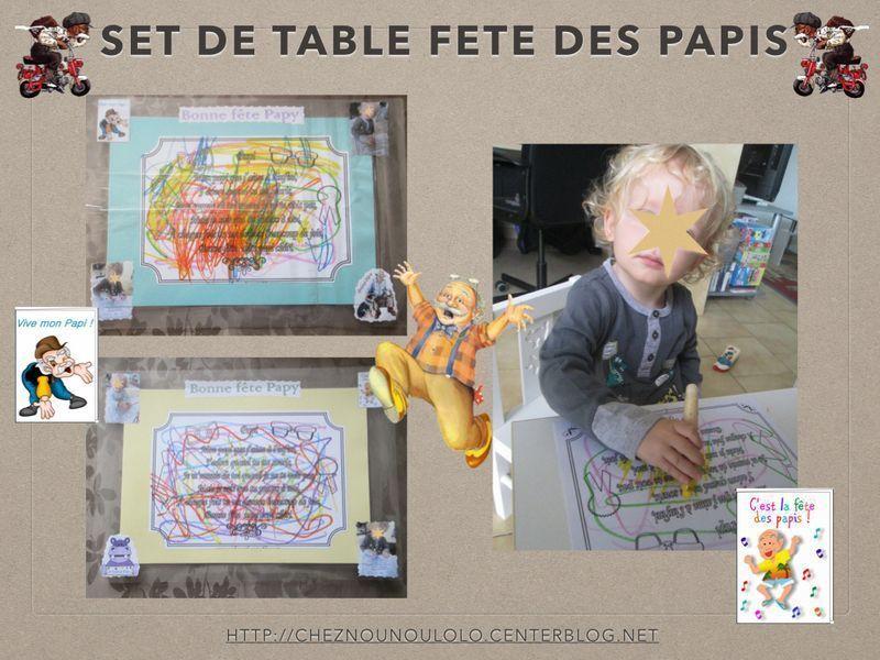 Set de table fait par mathis pour ses grands peres - Set de table grand format ...